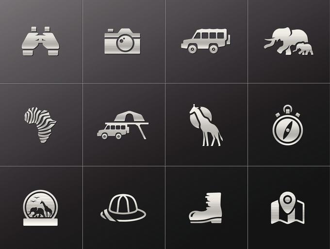 Metallic Icons - Safari