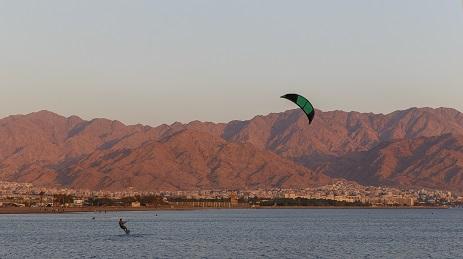 Aqaba city at sunset