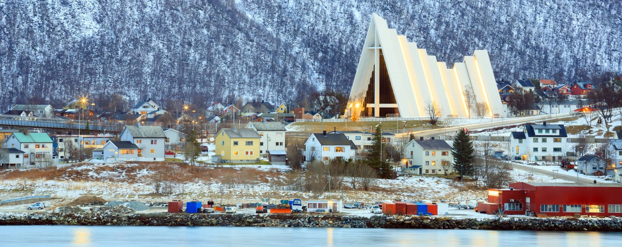 Tromso Cityscape Arctic Cathedral