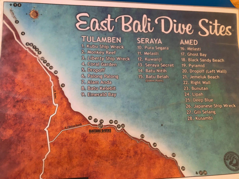 Mapa Buceo Amed
